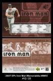2007 SPx Iron Man Memorabilia #IM53