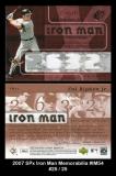 2007 SPx Iron Man Memorabilia #IM54