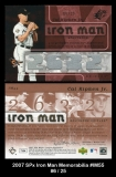 2007 SPx Iron Man Memorabilia #IM55