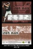 2007 SPx Iron Man Memorabilia #IM56