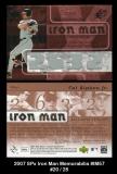 2007 SPx Iron Man Memorabilia #IM57