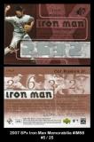 2007 SPx Iron Man Memorabilia #IM58