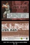 2007 SPx Iron Man Memorabilia #IM59