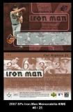 2007 SPx Iron Man Memorabilia #IM6