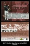 2007 SPx Iron Man Memorabilia #IM61
