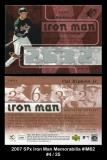2007 SPx Iron Man Memorabilia #IM62