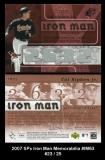 2007 SPx Iron Man Memorabilia #IM63