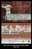 2007 SPx Iron Man Memorabilia #IM64