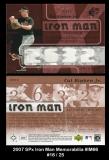 2007 SPx Iron Man Memorabilia #IM66