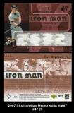2007 SPx Iron Man Memorabilia #IM67