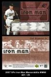 2007 SPx Iron Man Memorabilia #IM68