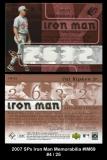2007 SPx Iron Man Memorabilia #IM69
