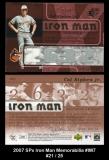 2007 SPx Iron Man Memorabilia #IM7