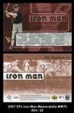 2007 SPx Iron Man Memorabilia #IM70