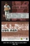 2007 SPx Iron Man Memorabilia #IM71