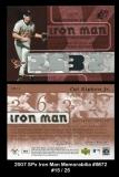 2007 SPx Iron Man Memorabilia #IM72