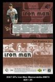 2007 SPx Iron Man Memorabilia #IM73
