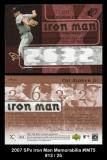 2007 SPx Iron Man Memorabilia #IM75