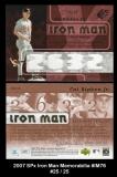 2007 SPx Iron Man Memorabilia #IM76