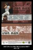 2007 SPx Iron Man Memorabilia #IM77