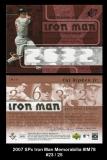 2007 SPx Iron Man Memorabilia #IM78
