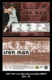 2007 SPx Iron Man Memorabilia #IM79