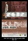 2007 SPx Iron Man Memorabilia #IM8