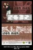 2007 SPx Iron Man Memorabilia #IM81