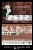 2007 SPx Iron Man Memorabilia #IM83