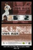 2007 SPx Iron Man Memorabilia #IM86
