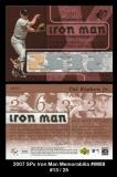 2007 SPx Iron Man Memorabilia #IM88