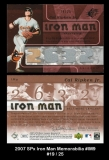 2007 SPx Iron Man Memorabilia #IM9