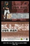 2007 SPx Iron Man Memorabilia #IM91