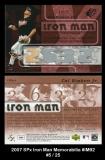 2007 SPx Iron Man Memorabilia #IM92