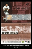 2007 SPx Iron Man Memorabilia #IM94