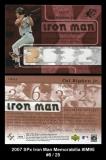 2007 SPx Iron Man Memorabilia #IM95