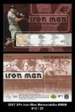 2007 SPx Iron Man Memorabilia #IM96