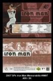 2007 SPx Iron Man Memorabilia #IM97