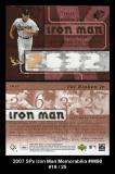2007 SPx Iron Man Memorabilia #IM98