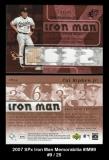 2007 SPx Iron Man Memorabilia #IM99