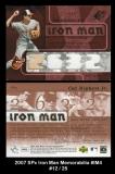 2007 Spx Iron Man Memorabilia #IM4