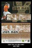 2007 SPx Iron Man #IM1