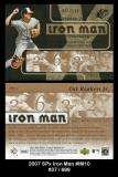2007 SPx Iron Man #IM10