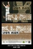 2007 SPx Iron Man #IM100