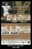 2007 SPx Iron Man #IM11