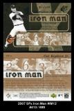 2007 SPx Iron Man #IM12