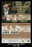 2007 SPx Iron Man #IM18