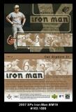 2007 SPx Iron Man #IM19