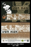 2007 SPx Iron Man #IM24
