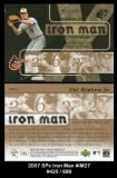 2007 SPx Iron Man #IM27